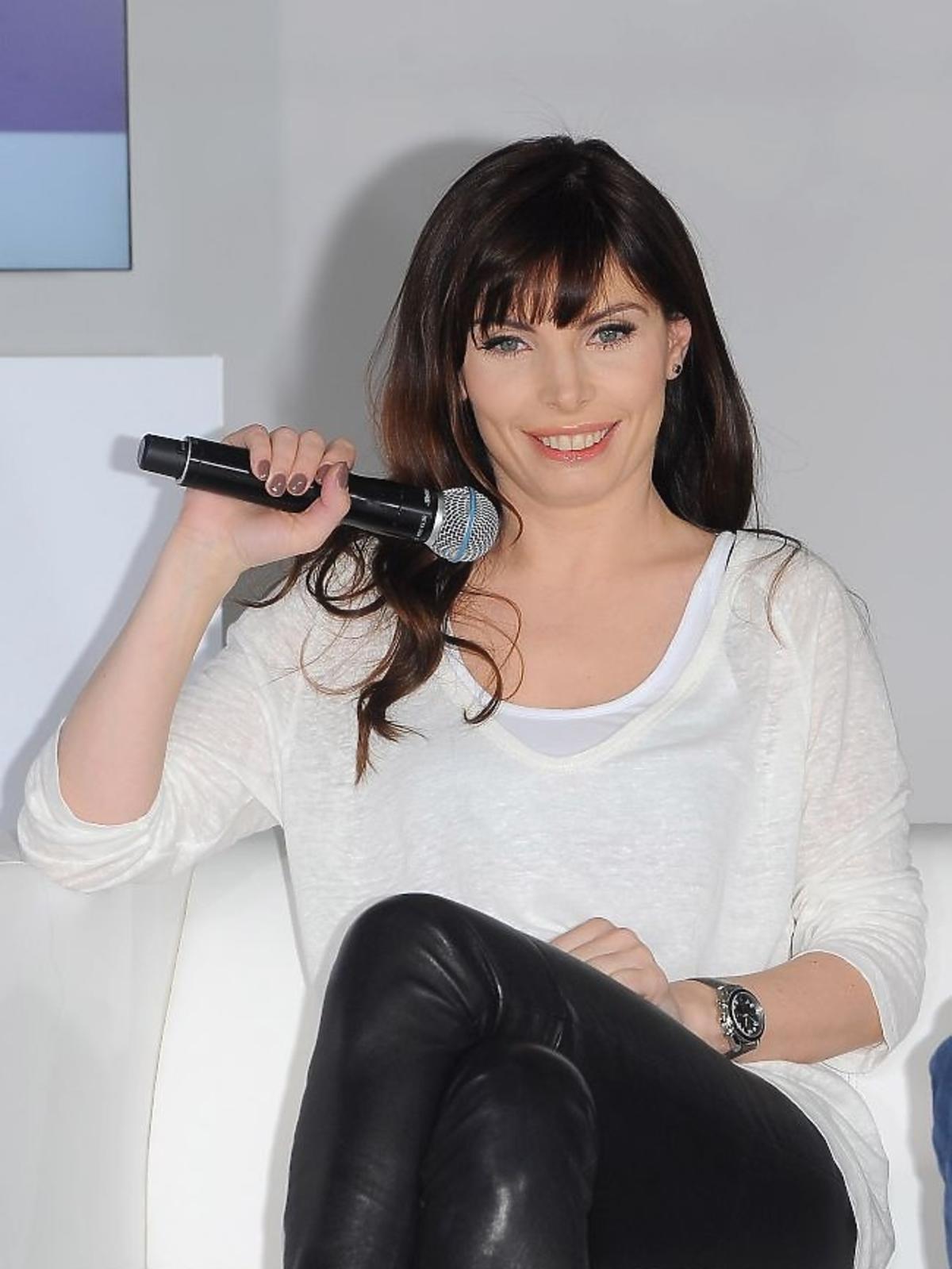 Agnieszka Dygant na konferencji prasowej Play