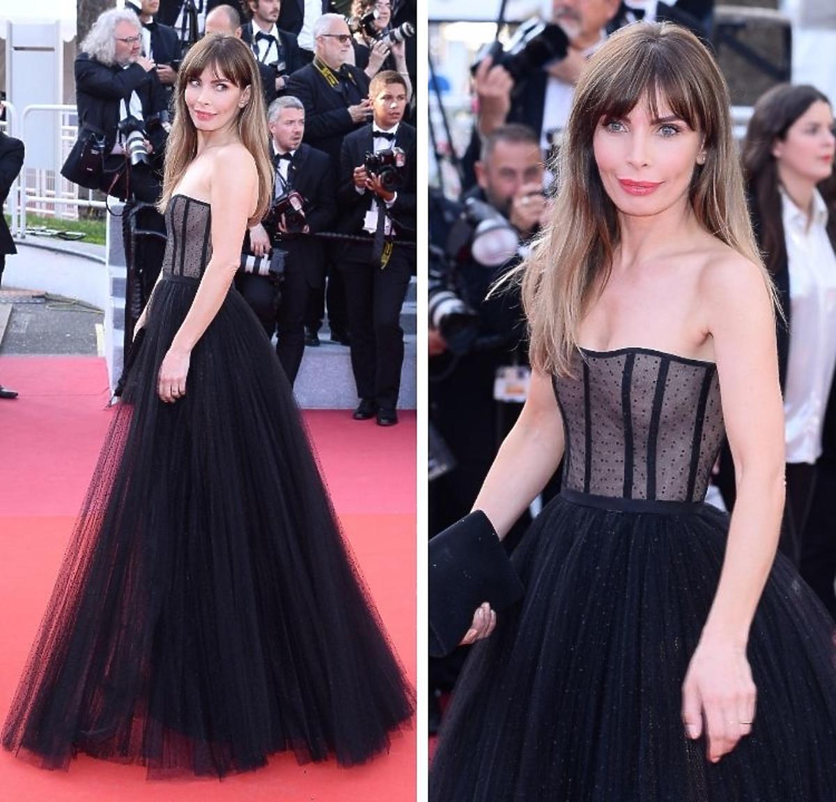 Agnieszka Dygant pozuje na czerwonym w Cannes