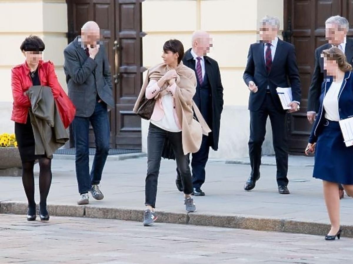 Agnieszka Dygant w drodze na Uniwersytet Warszawski