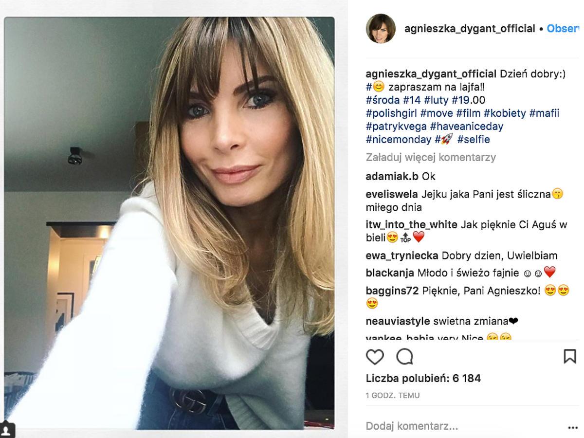 Agnieszka Dygant zmieniła fryzurę