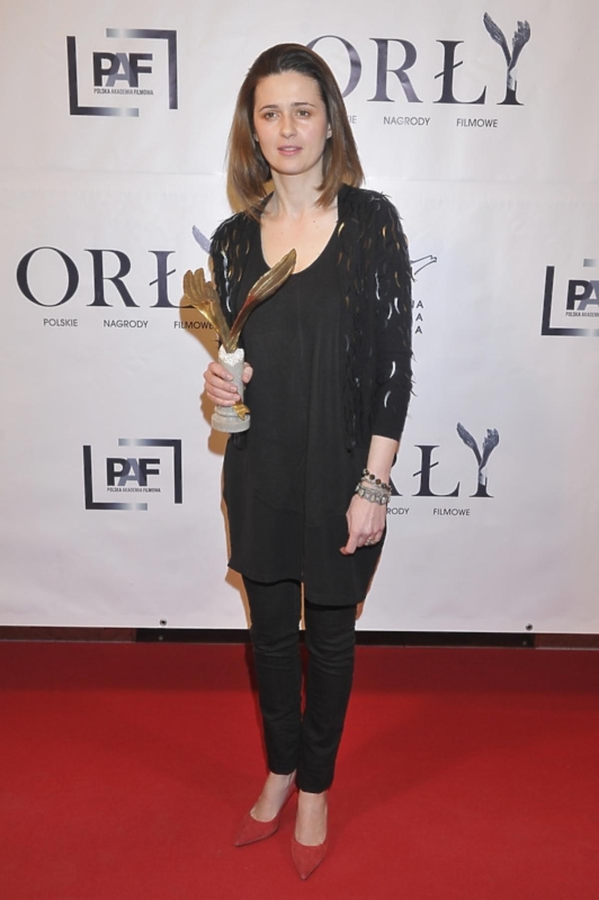 Agnieszka Grochowska na gali rozdania nagród Orły 2013