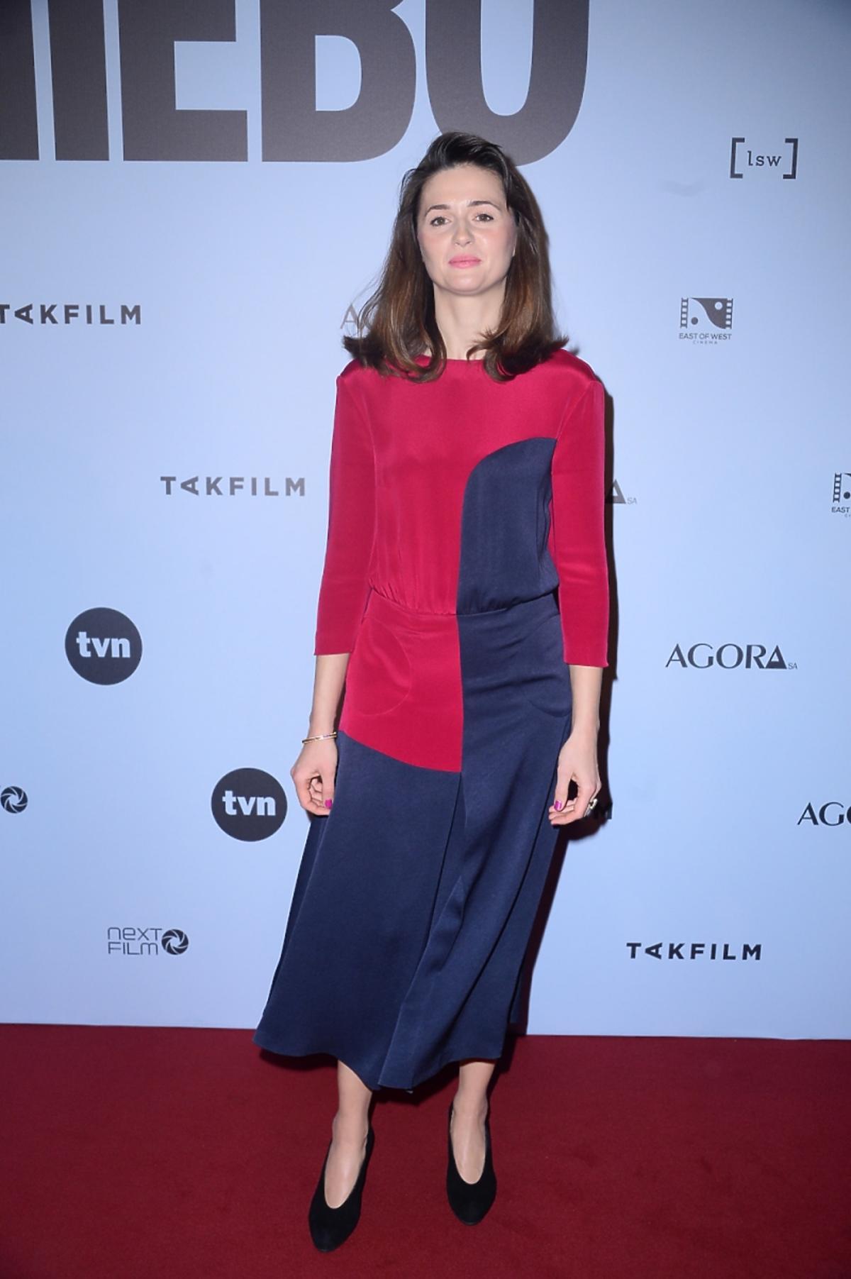 Agnieszka Grochowska na premierze filmu