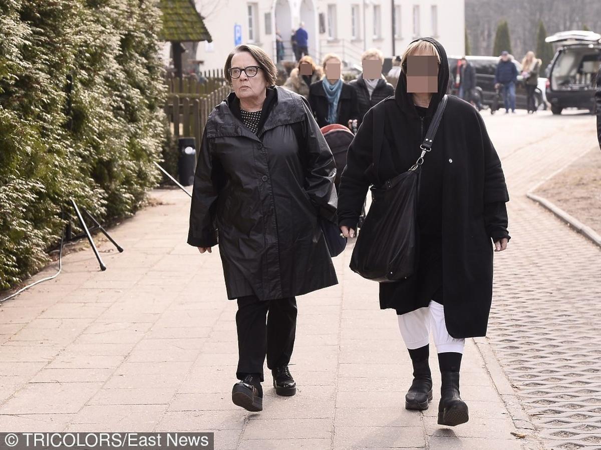 Agnieszka Holland na pogrzebie Danuty Szaflarskiej