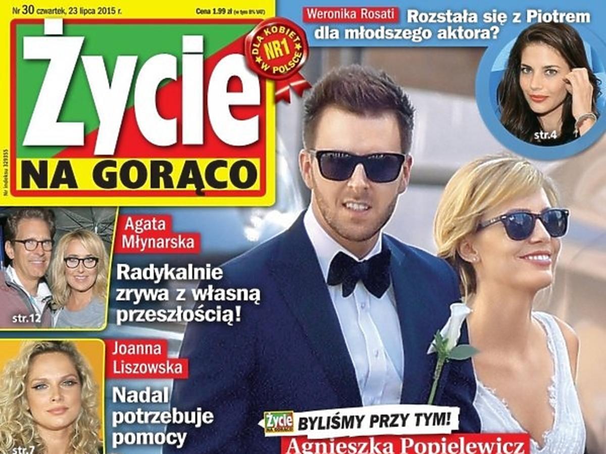Agnieszka Hyży, Grzegorz Hyży podczas ślubu w Rzymie