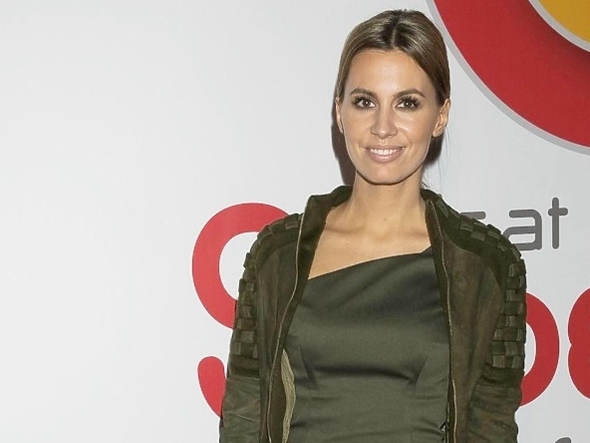 Agnieszka Hyży w zielonej sukience