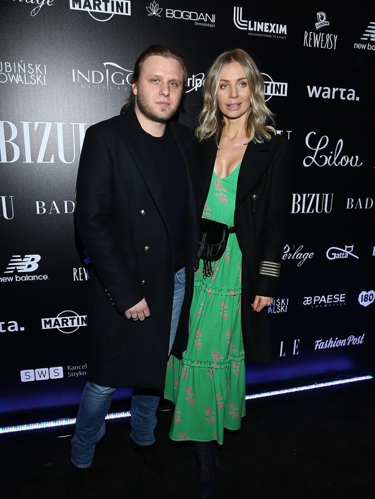 Agnieszka i Piotr Woźniakowie Starakowie na pokazie bizuu