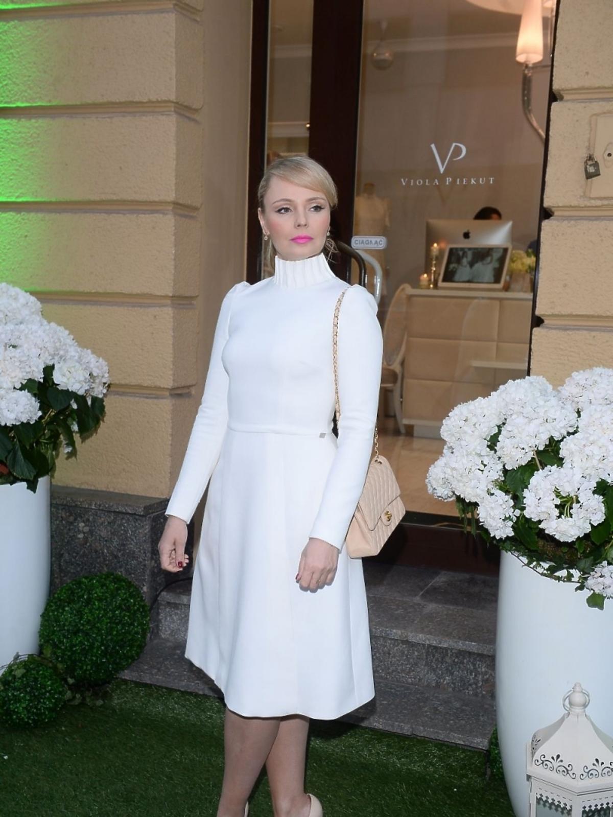 Agnieszka Jastrzębska na otwarciu butiku Violi Piekut