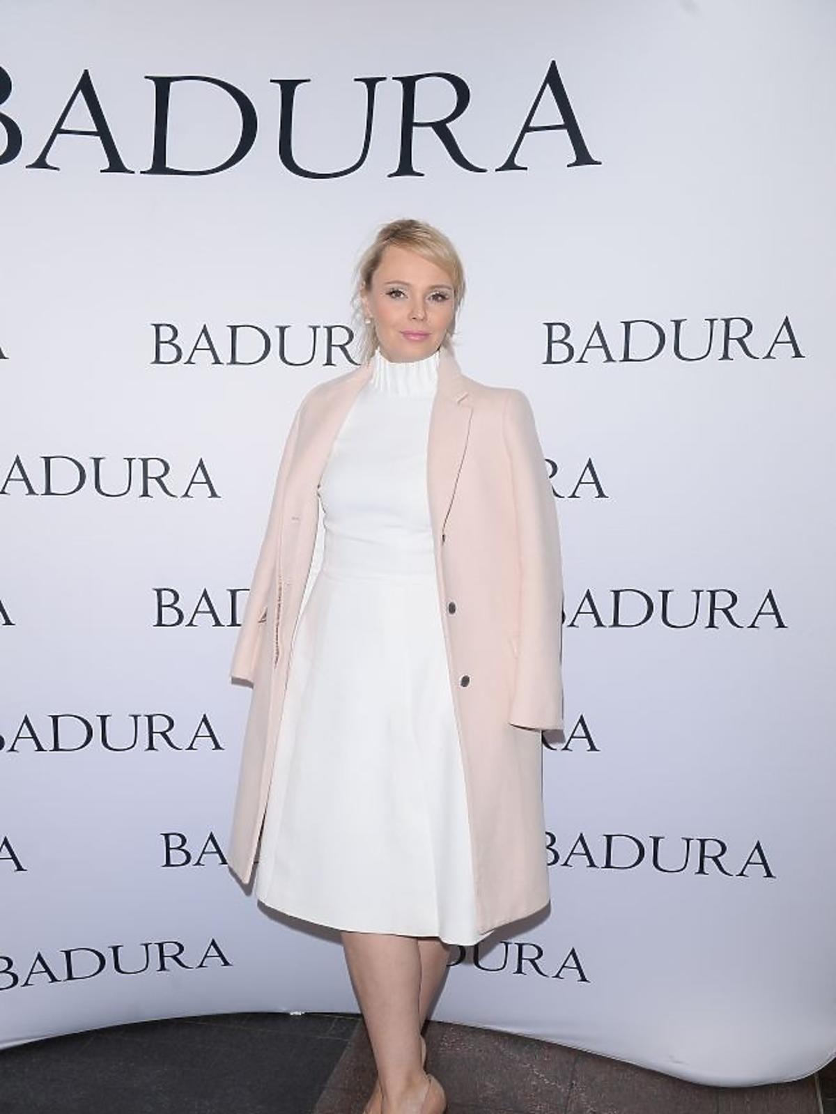Agnieszka Jastrzębska na prezentacji marki Badura