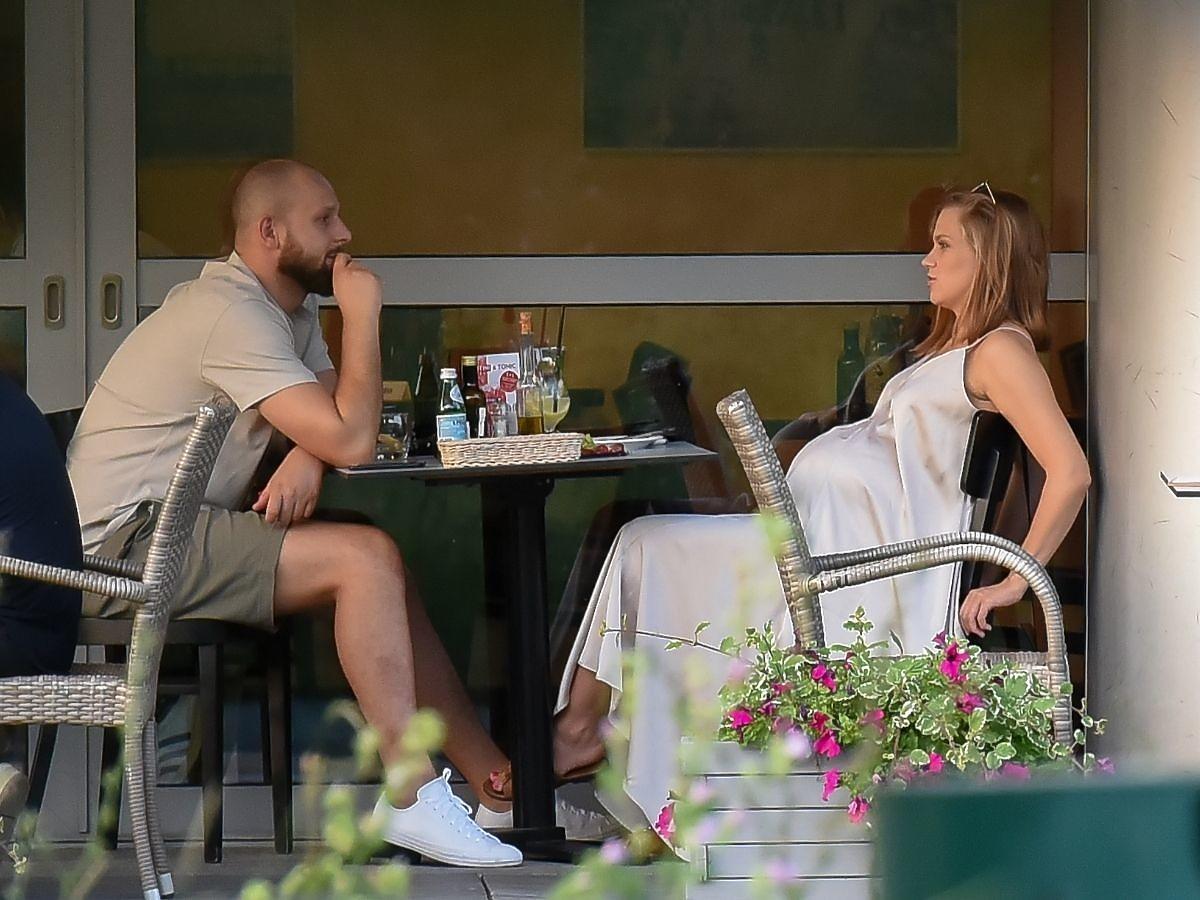 Agnieszka Kaczorowska na kolacji z mężem