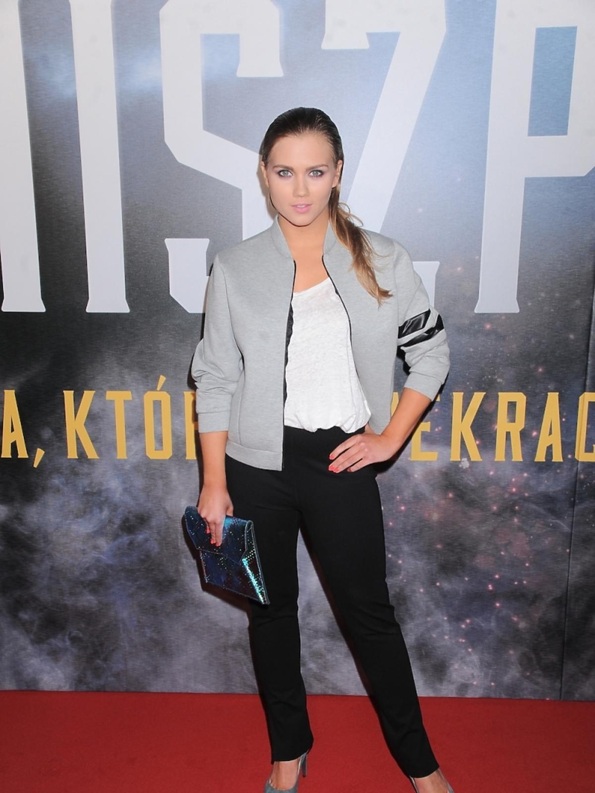 Agnieszka Kaczorowska na premierze filmu