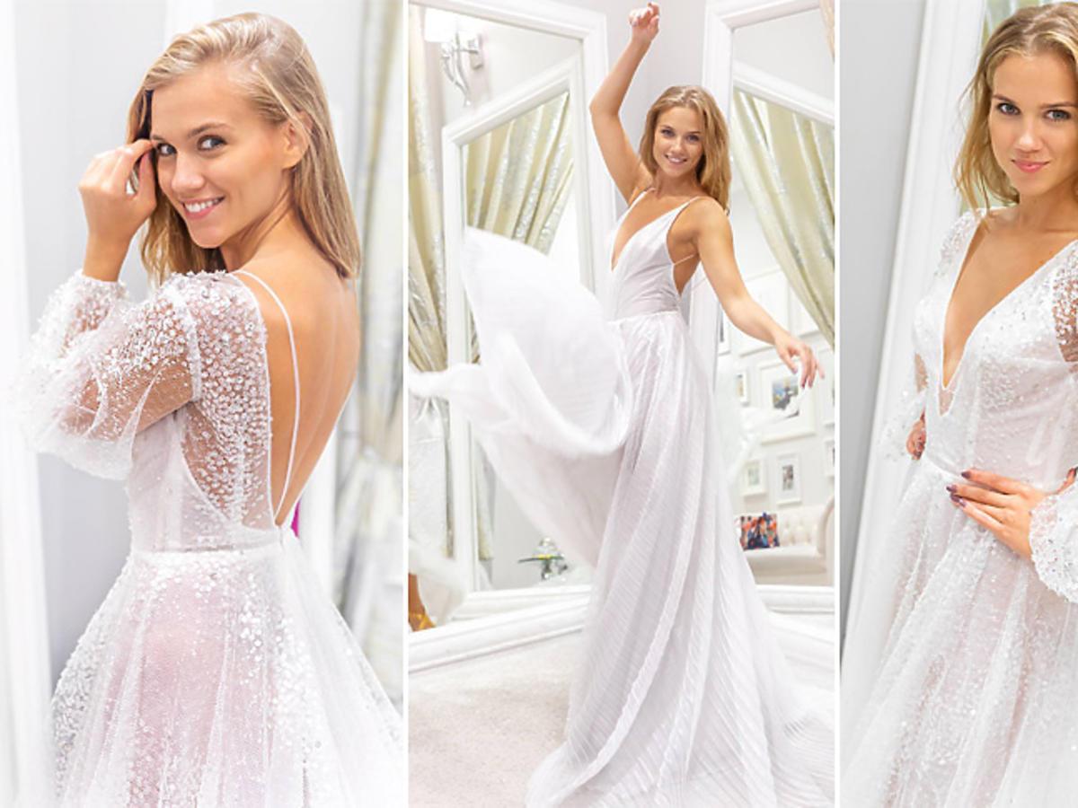 Agnieszka Kaczorowska pokazała suknię ślubną