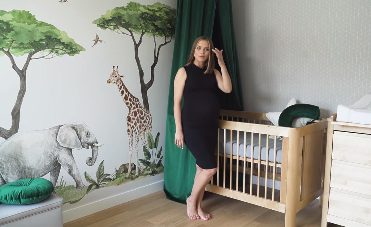 Agnieszka Kaczorowska urządziła pokój dla dziecka w motywem dżungli