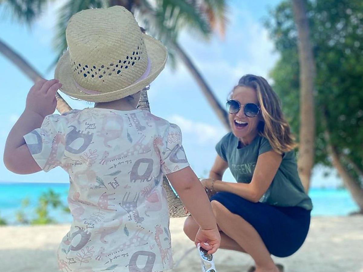 Agnieszka Kaczorowska z córką na wakacjach