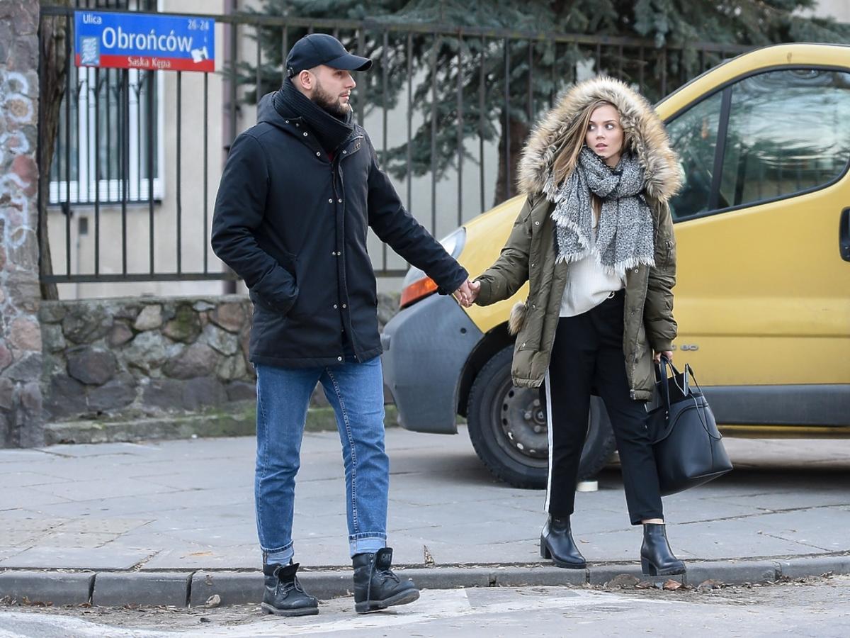 Agnieszka Kaczorowska z mężem na obiedzie