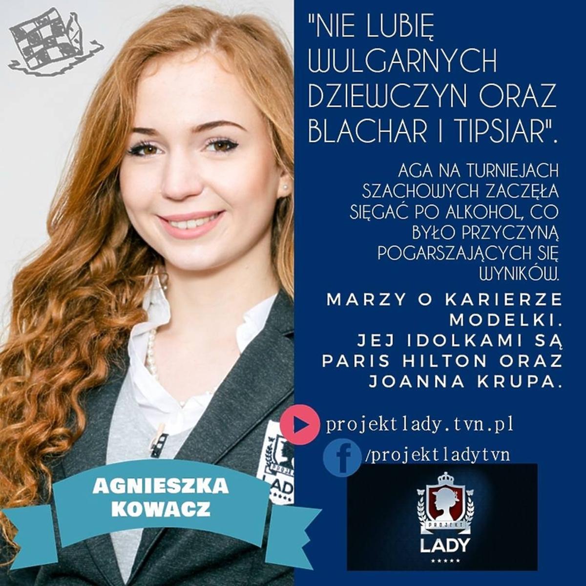 Agnieszka Kowacz odpadła z programu Projekt Lady