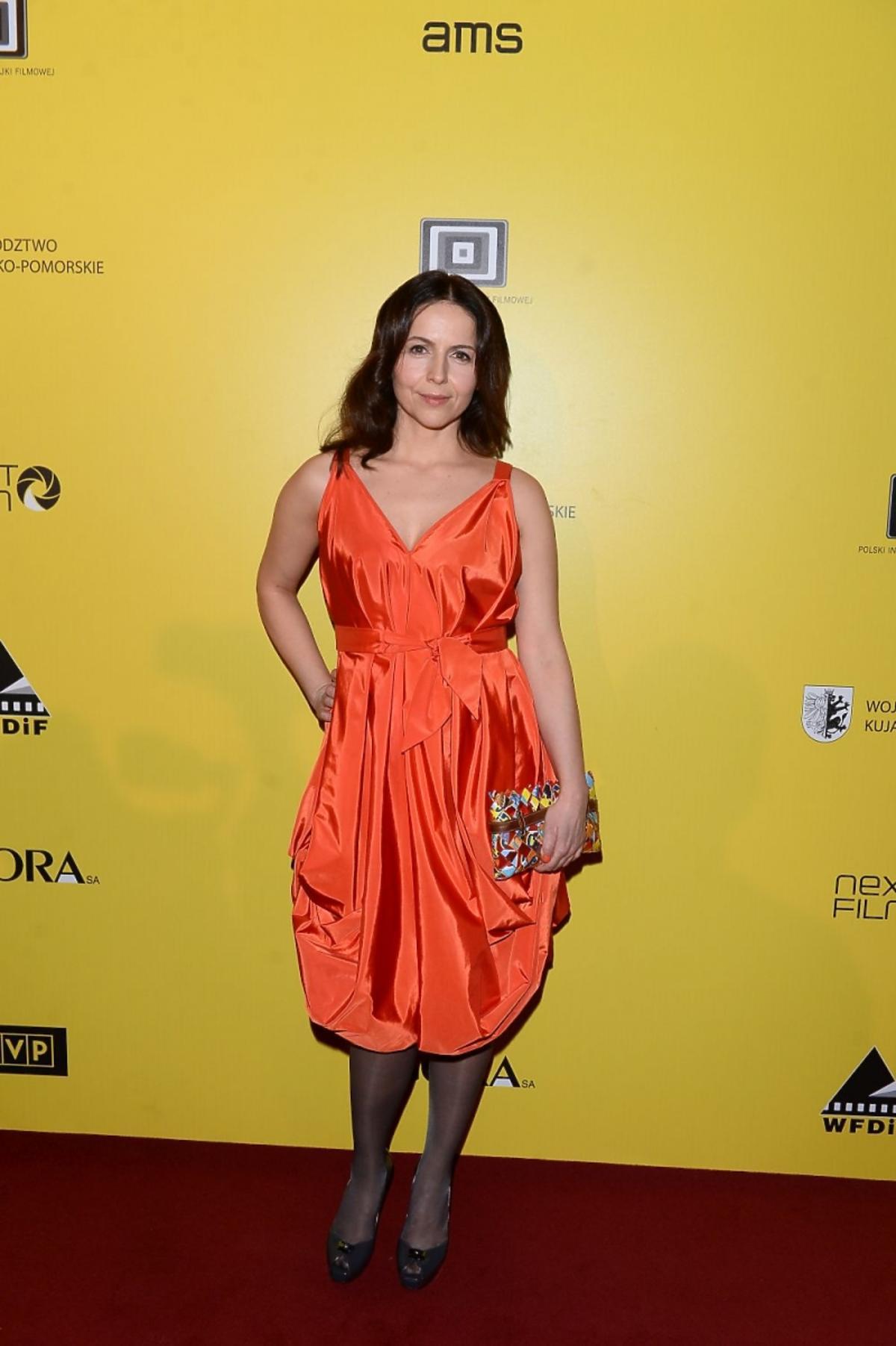 Agnieszka Michalska na premierze filmu