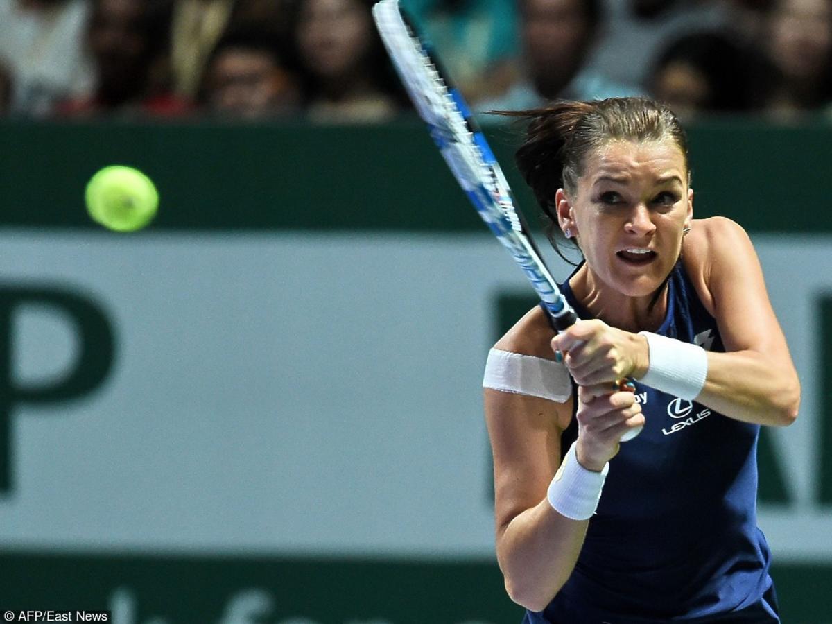 Agnieszka Radwańska gra z Petrą Kvitovą