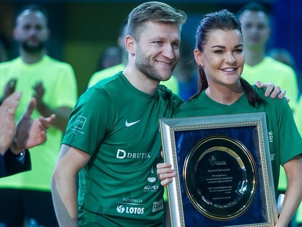 Agnieszka Radwańska na charytatywnym turnieju piłkarskim