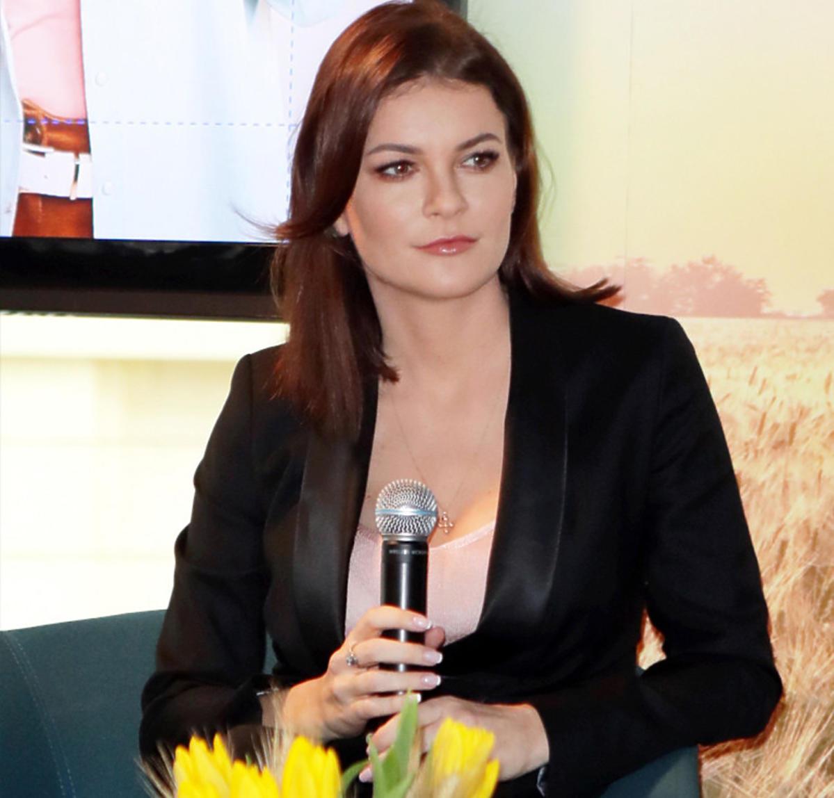 Agnieszka Radwańska na konferencji