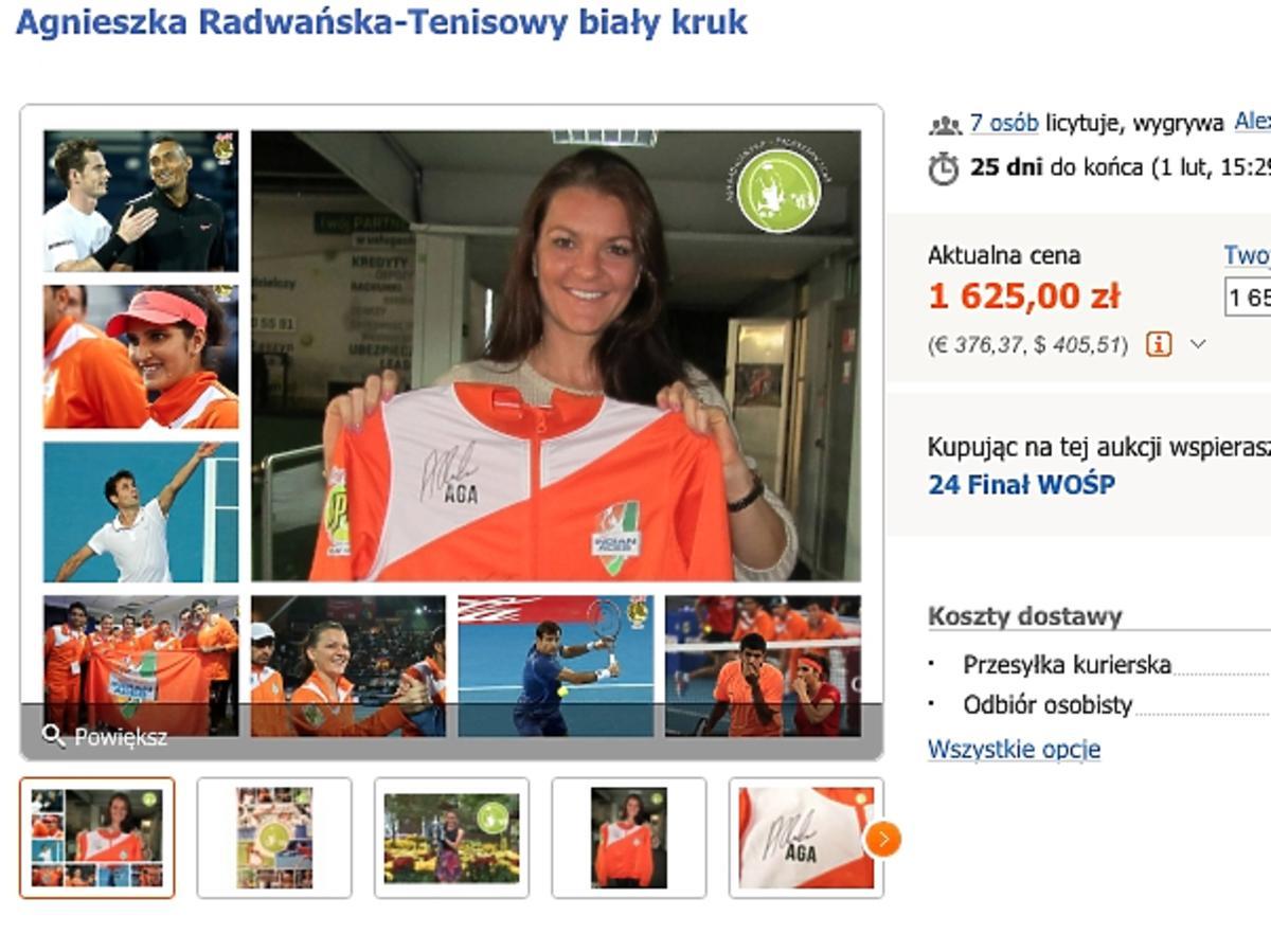 Agnieszka Radwańska na licytacji WOŚP