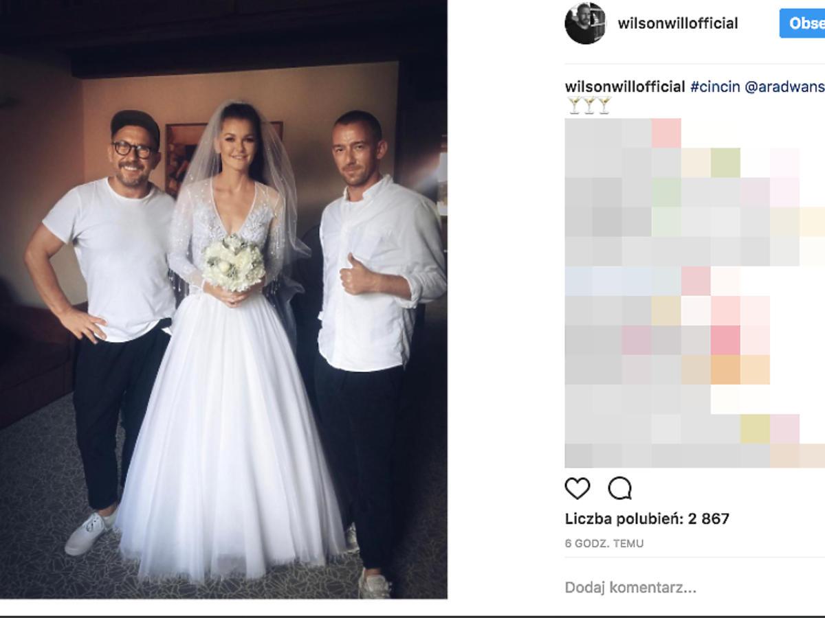 Agnieszka Radwańska z fryzjerem gwiazd w dniu jej ślubu