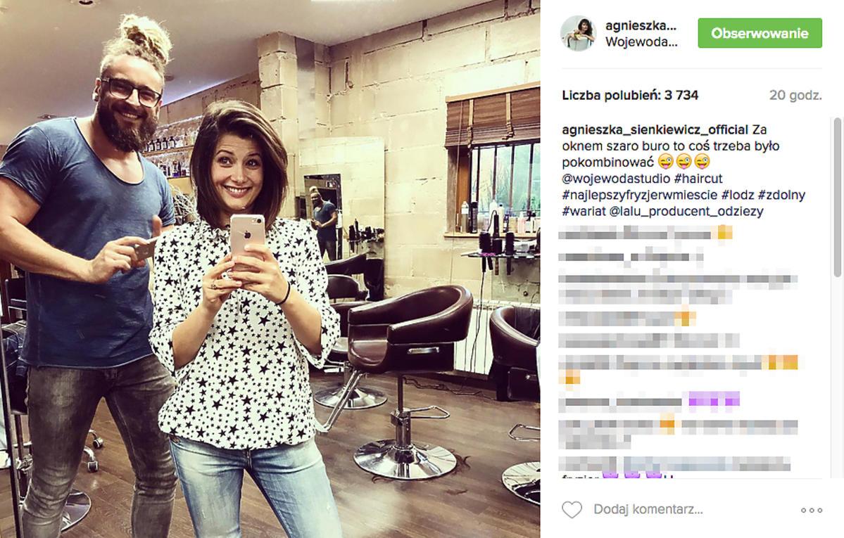 Agnieszka Sienkiewicz ścięła włosy