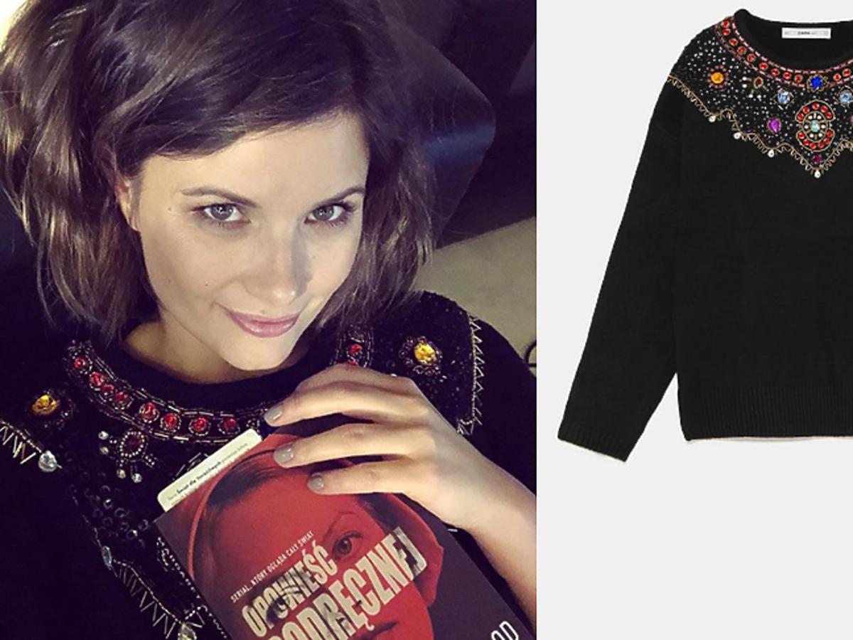 Agnieszka Sienkiewicz w swetrze z Zary