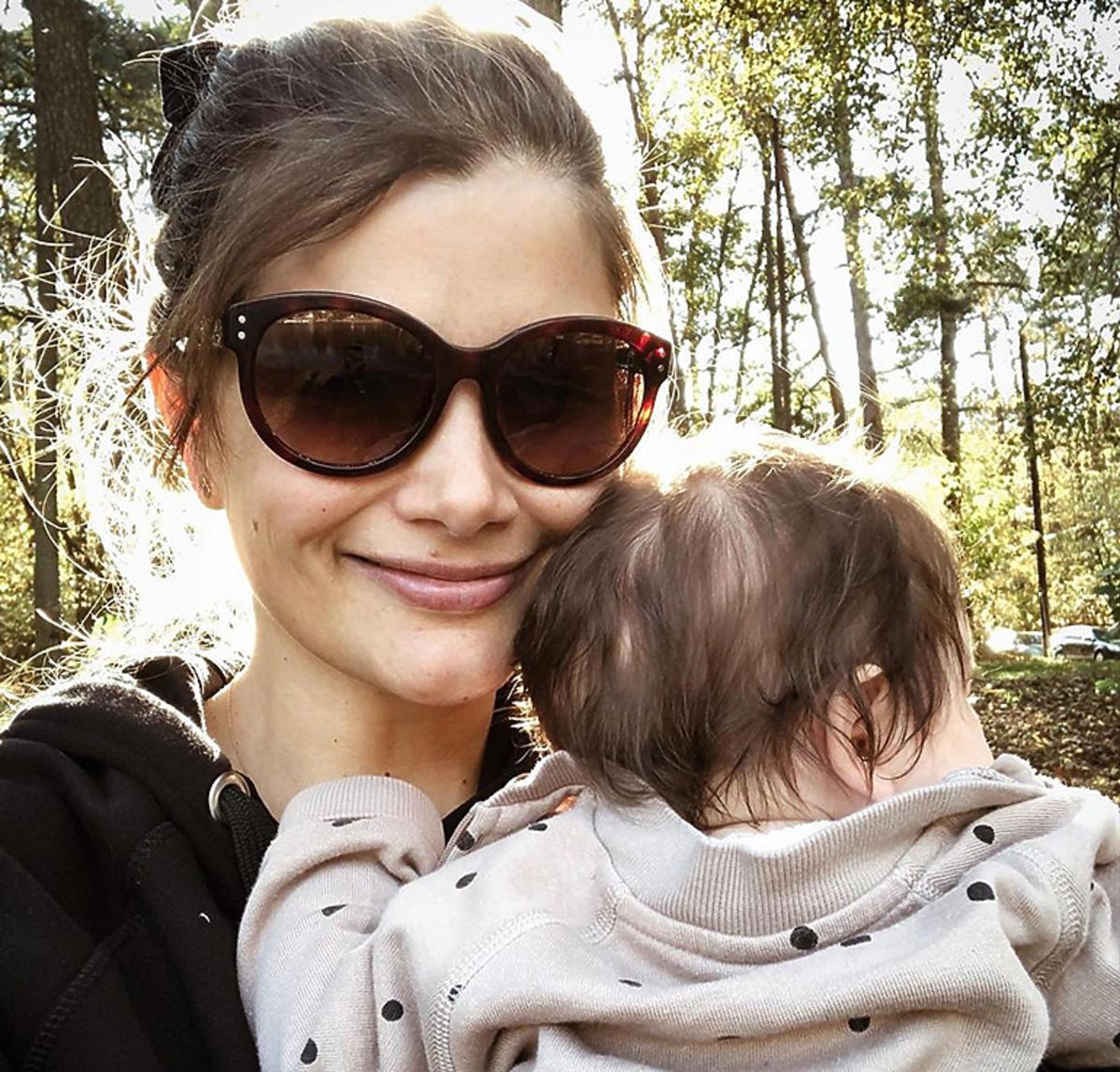 Agnieszka Sienkiewicz z córką Marysią