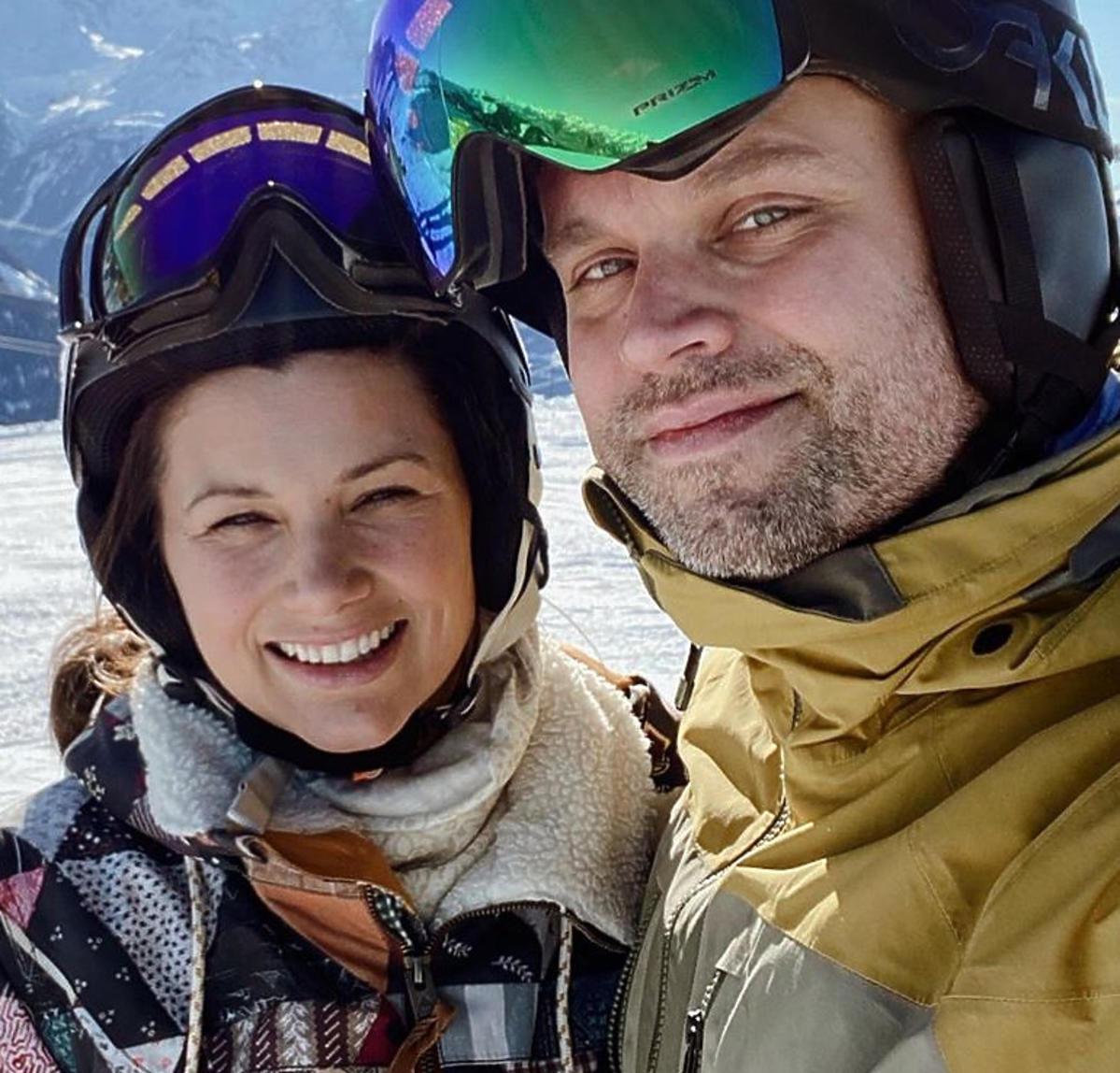 Agnieszka Sienkiewicz z mężem