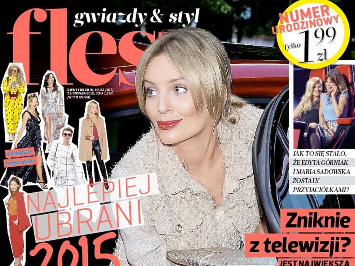 Agnieszka Szulim na okładce Flesza listopad 2015