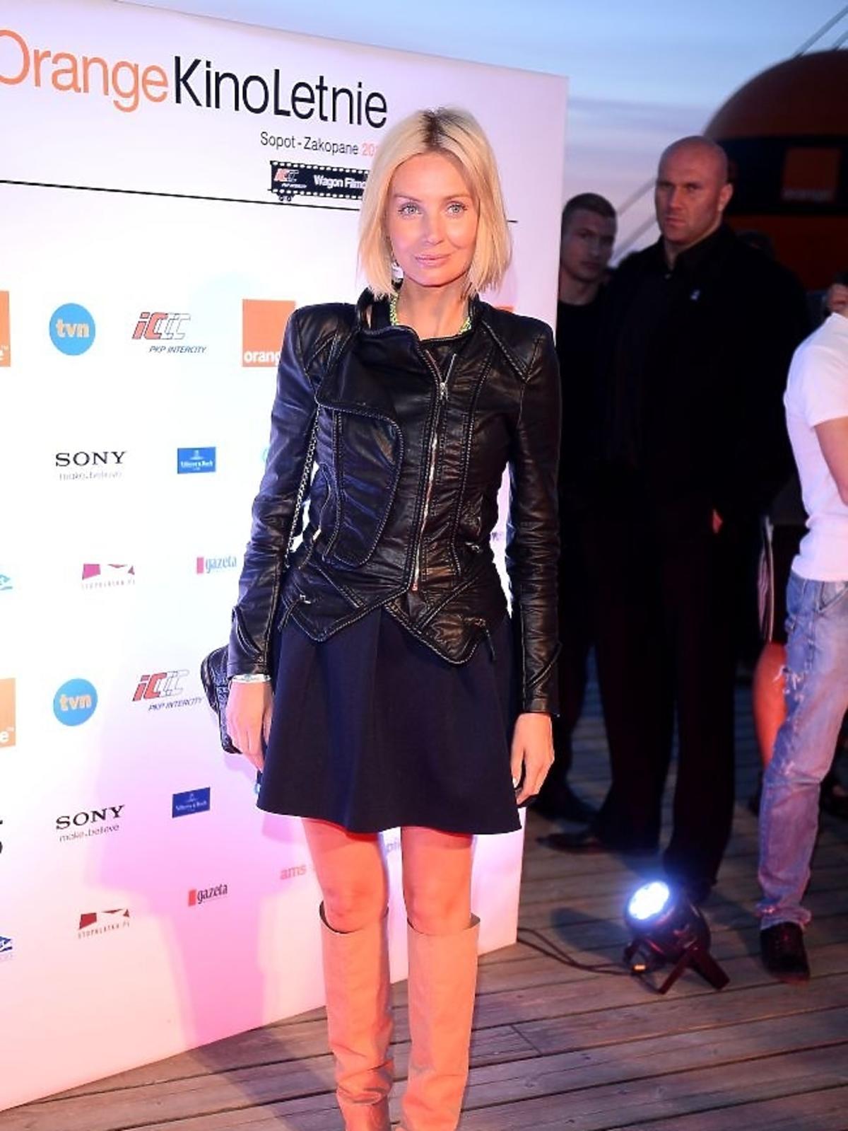 Agnieszka Szulim na gali Orange Kino Letnie w Sopocie
