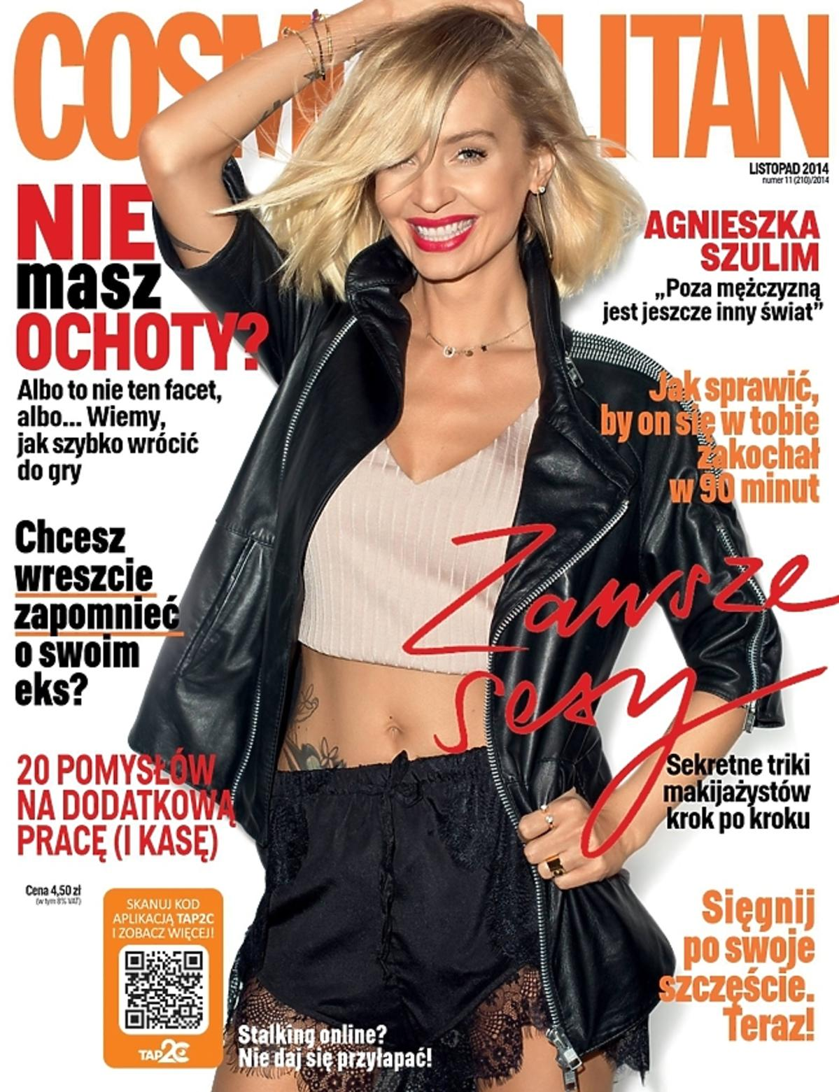 Agnieszka Szulim na okładce Cosmopolitan