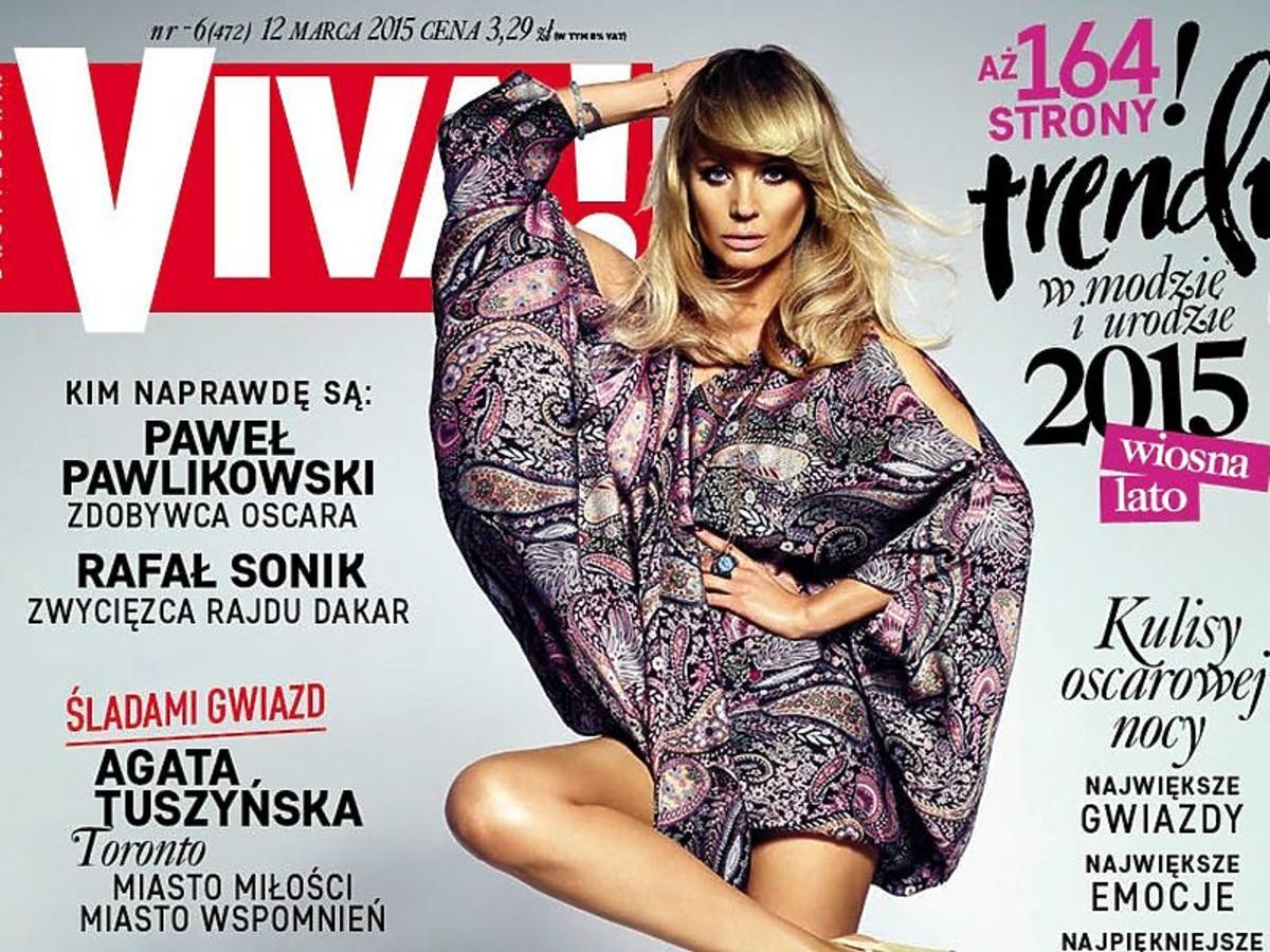 Agnieszka Szulim na okładce VIVY