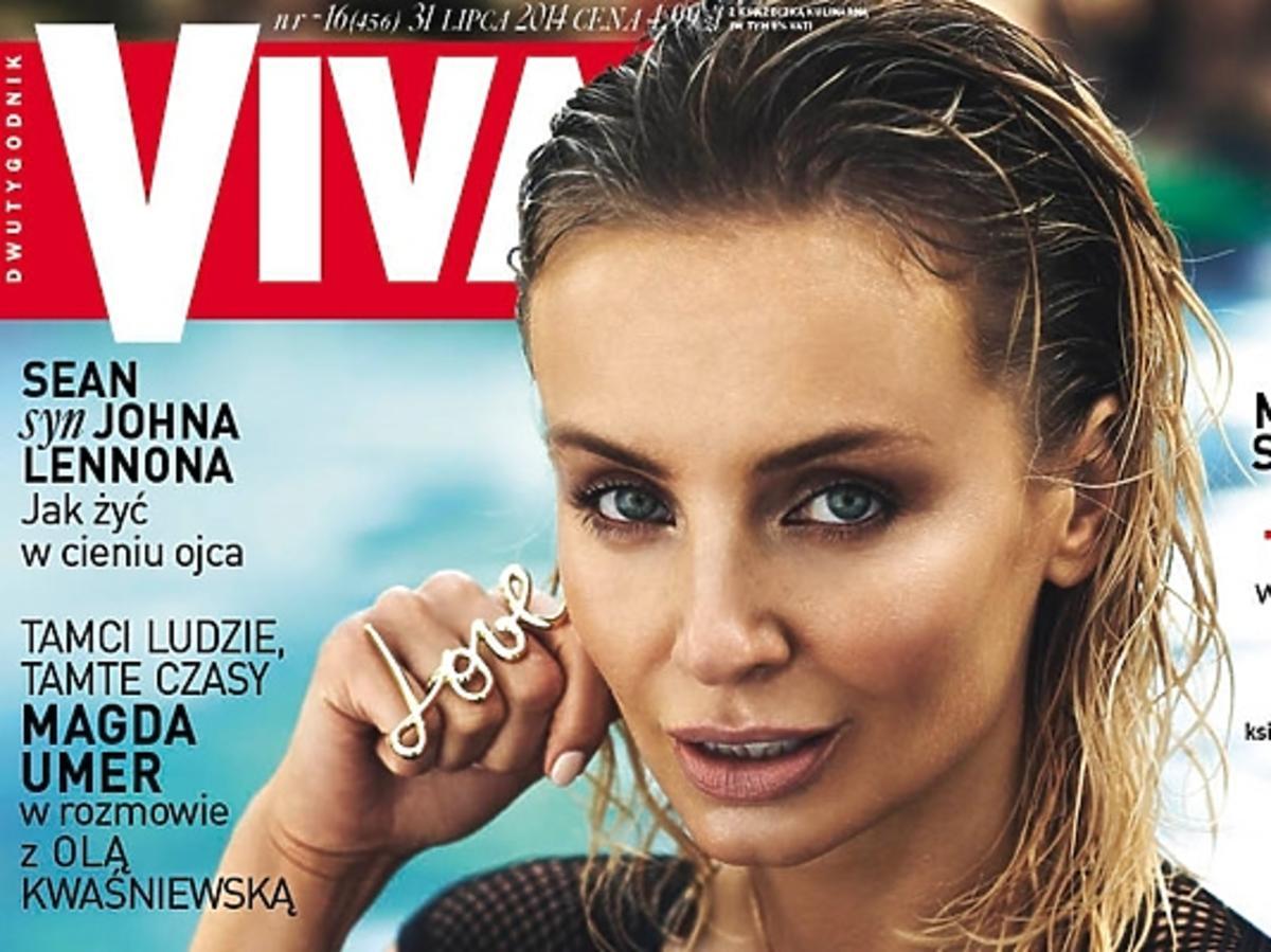 Agnieszka Szulim na okładce Vivy!