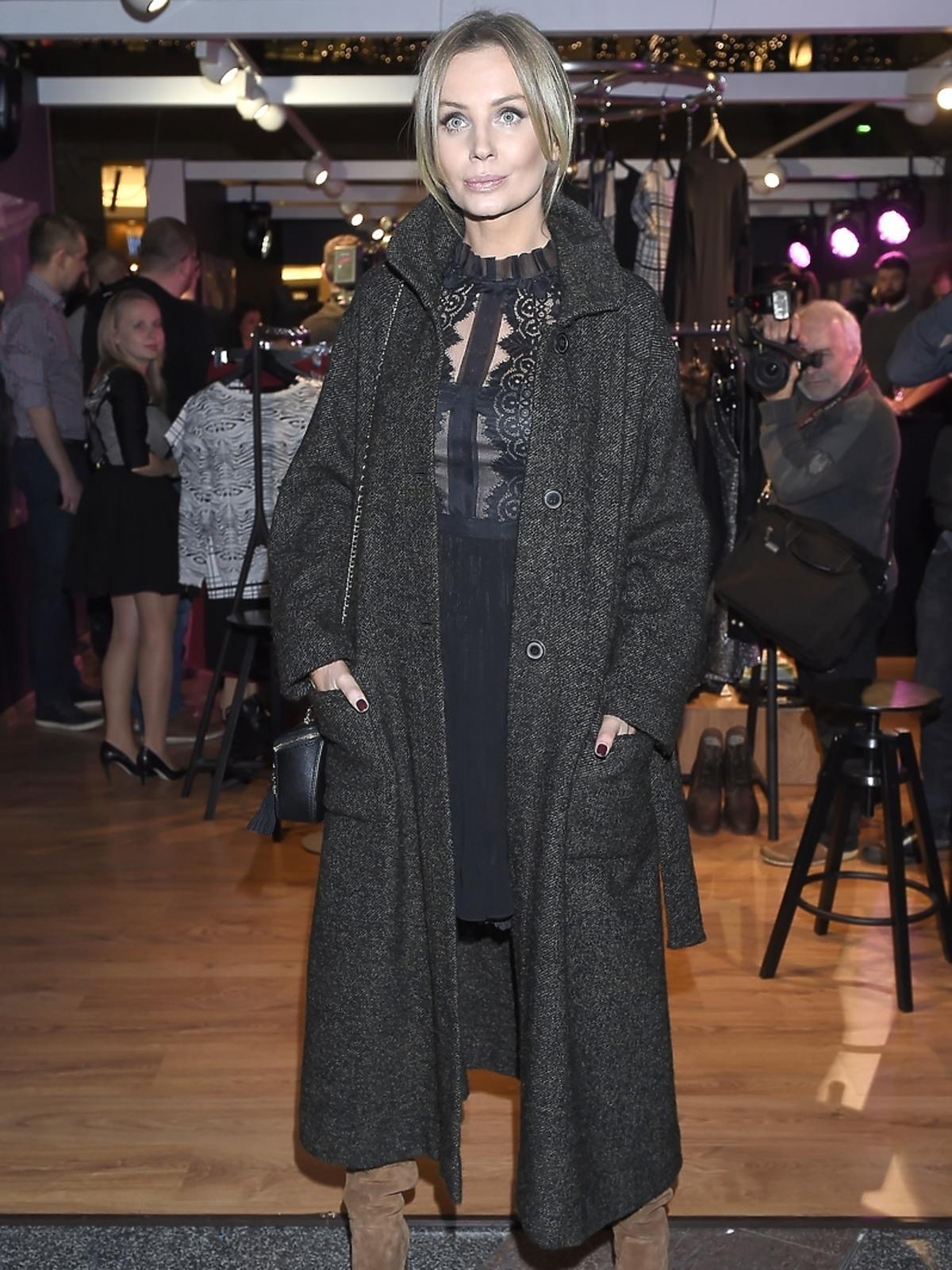 Agnieszka Szulim na otwarciu Zalando Pop-Up Store w Złotych Tarasach