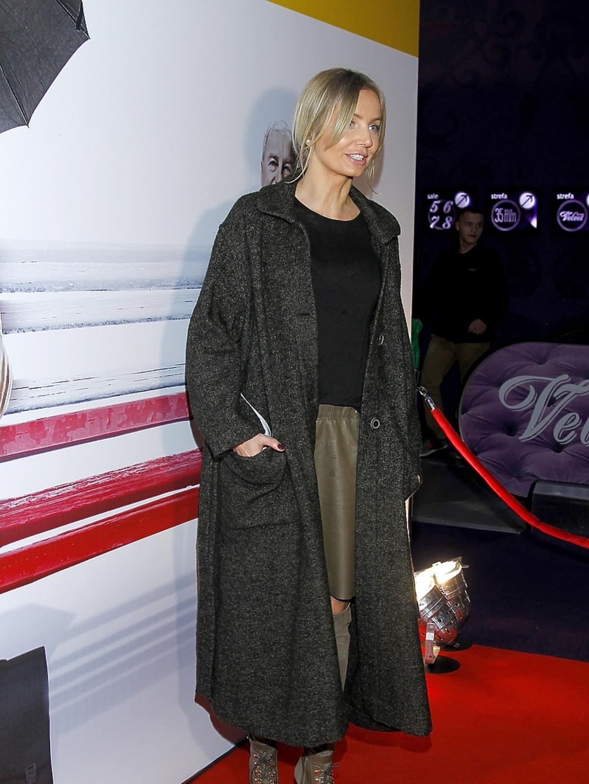 Agnieszka Szulim na premierze filmu Obywatel