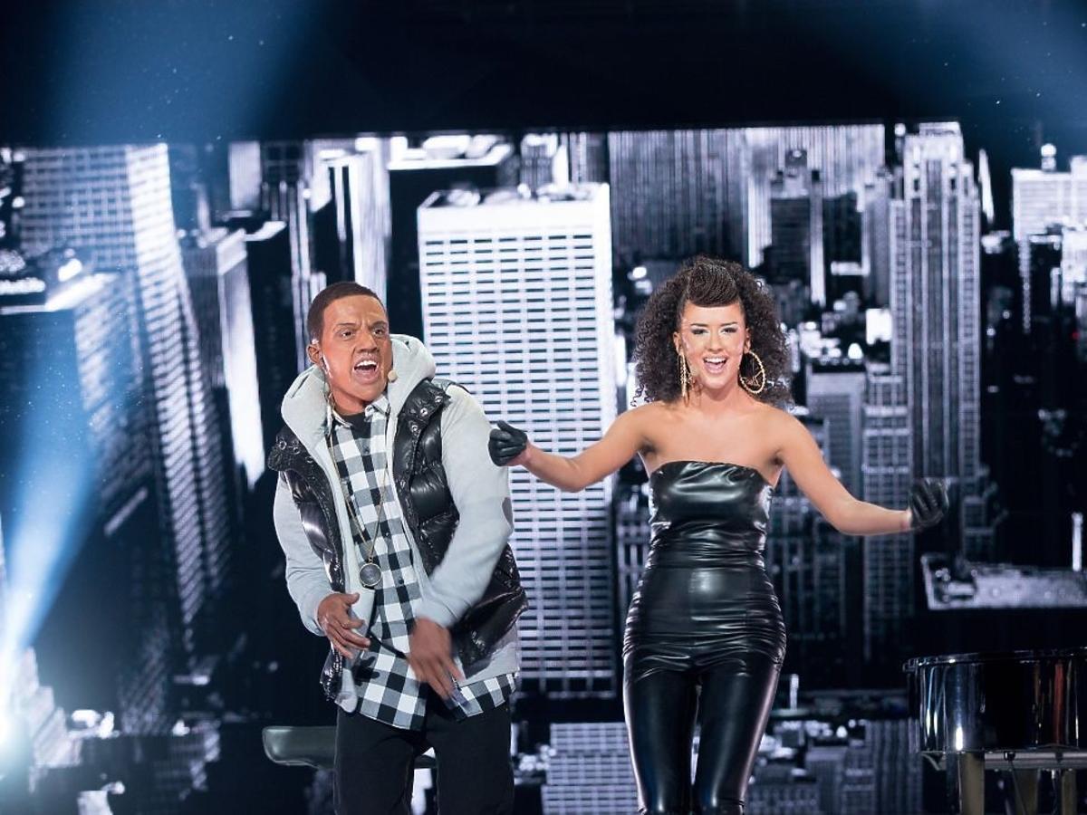 Agnieszka Twardowska i Marcin Rogacewicz jako Alicia Keys i Kanye West