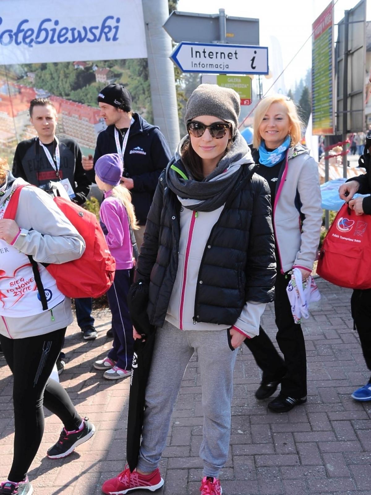 Agnieszka Więdłocha na charytatywnym biegu