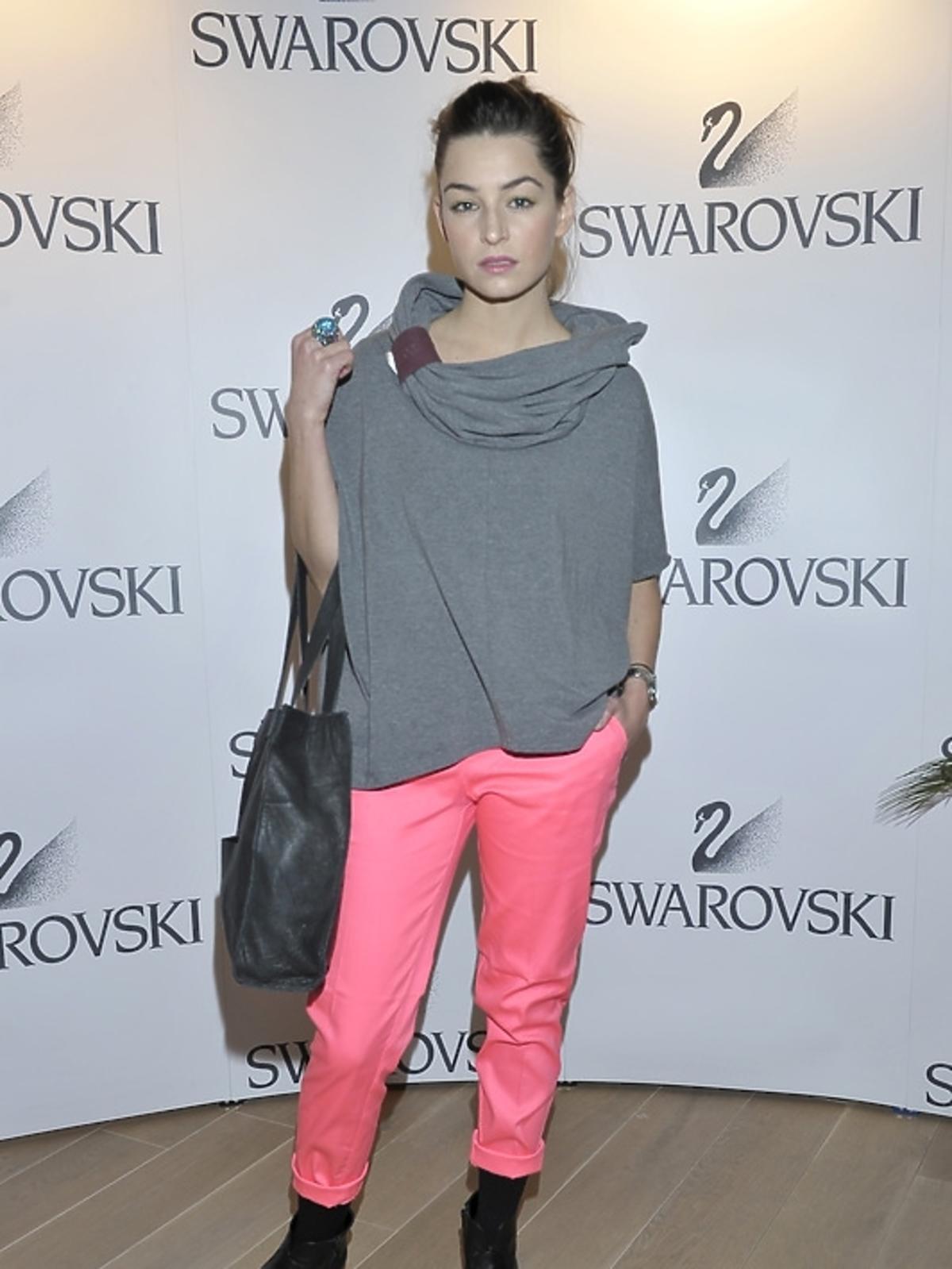 Agnieszka Więdłocha na pokazie kolekcji Swarovski - lato 2013