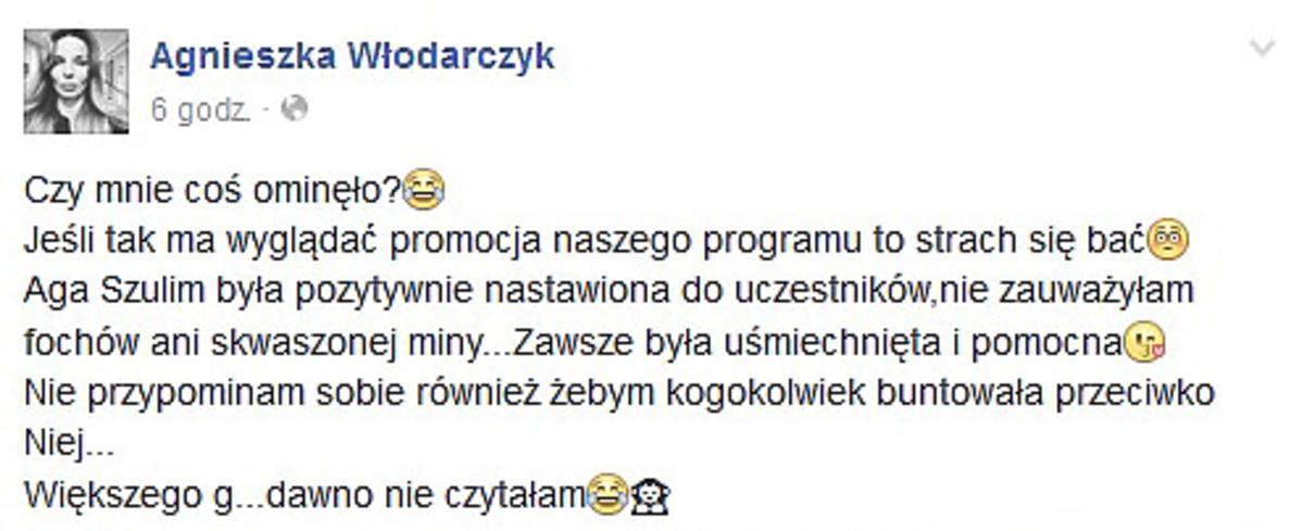 Agnieszka Włodarczk skomentowała plotki o konflikcie z Agnieszką Szulim