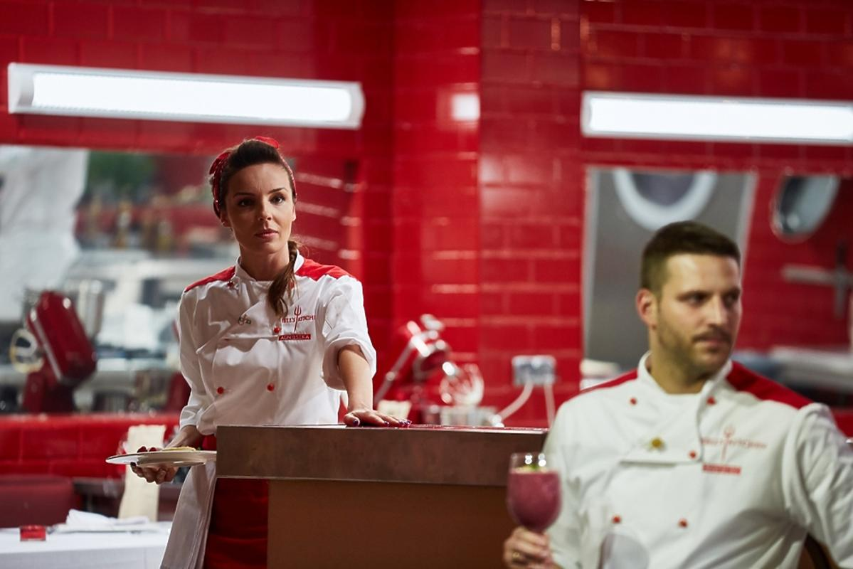 Agnieszka Włodarczyk i Mikołaj Krawczyk w Hell's Kitchen