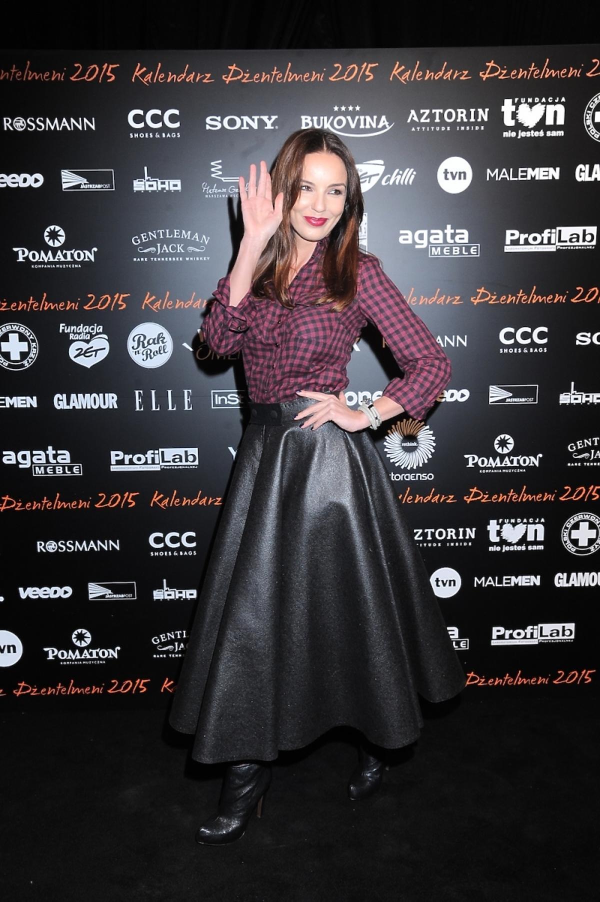 Agnieszka Włodarczyk na premierze kalendarza Dżentelmeni 2015