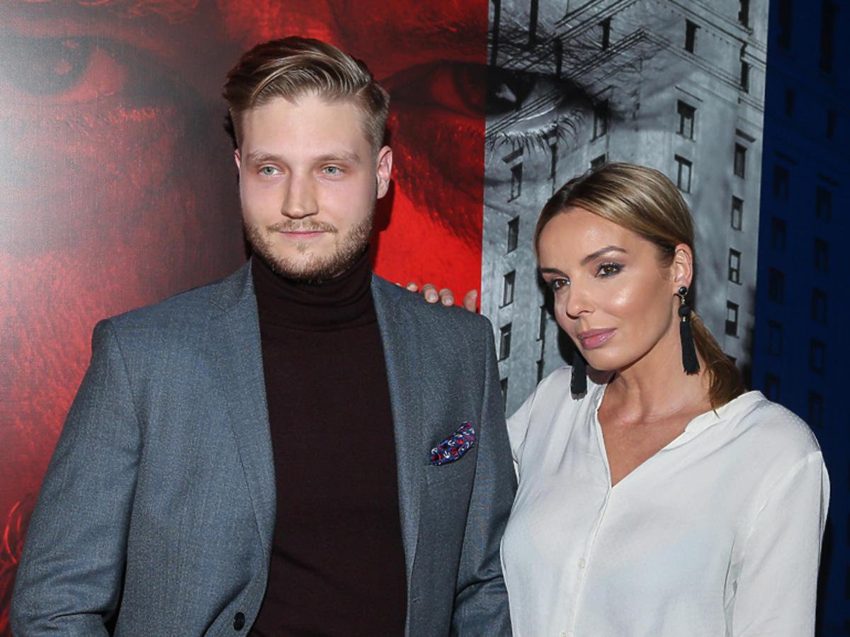 Agnieszka Włodarczyk z bratem na premierze filmu Ukryta Gra