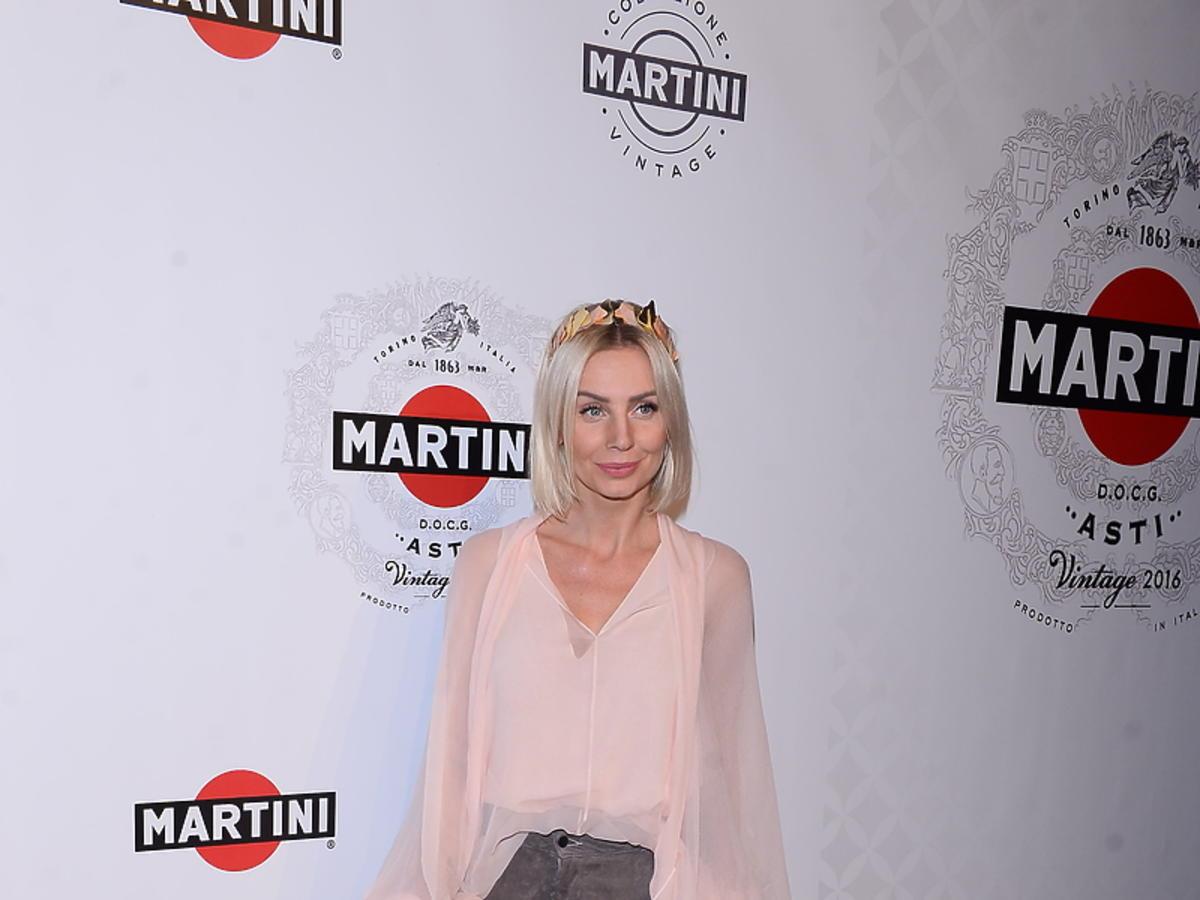 Agnieszka Woźniak-Starak na imprezie Martini