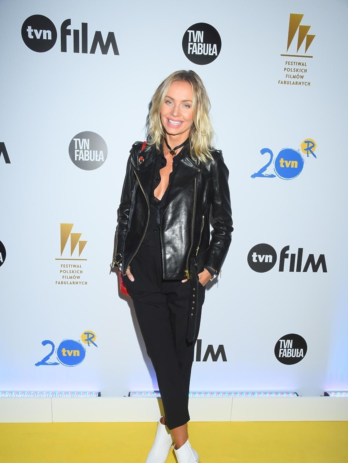 Agnieszka Woźniak Starak na imprezie TVN na Festiwalu Filmowym w Gdyni