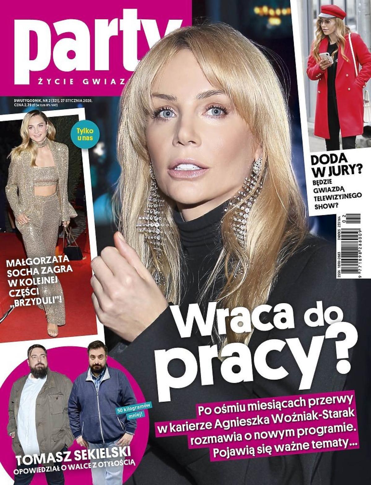 Agnieszka Woźniak-Starak na okładce Party