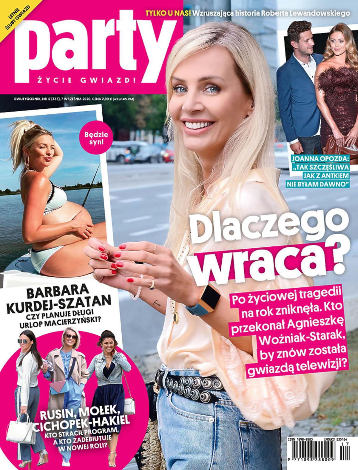Agnieszka Woźniak-Starak na okładce