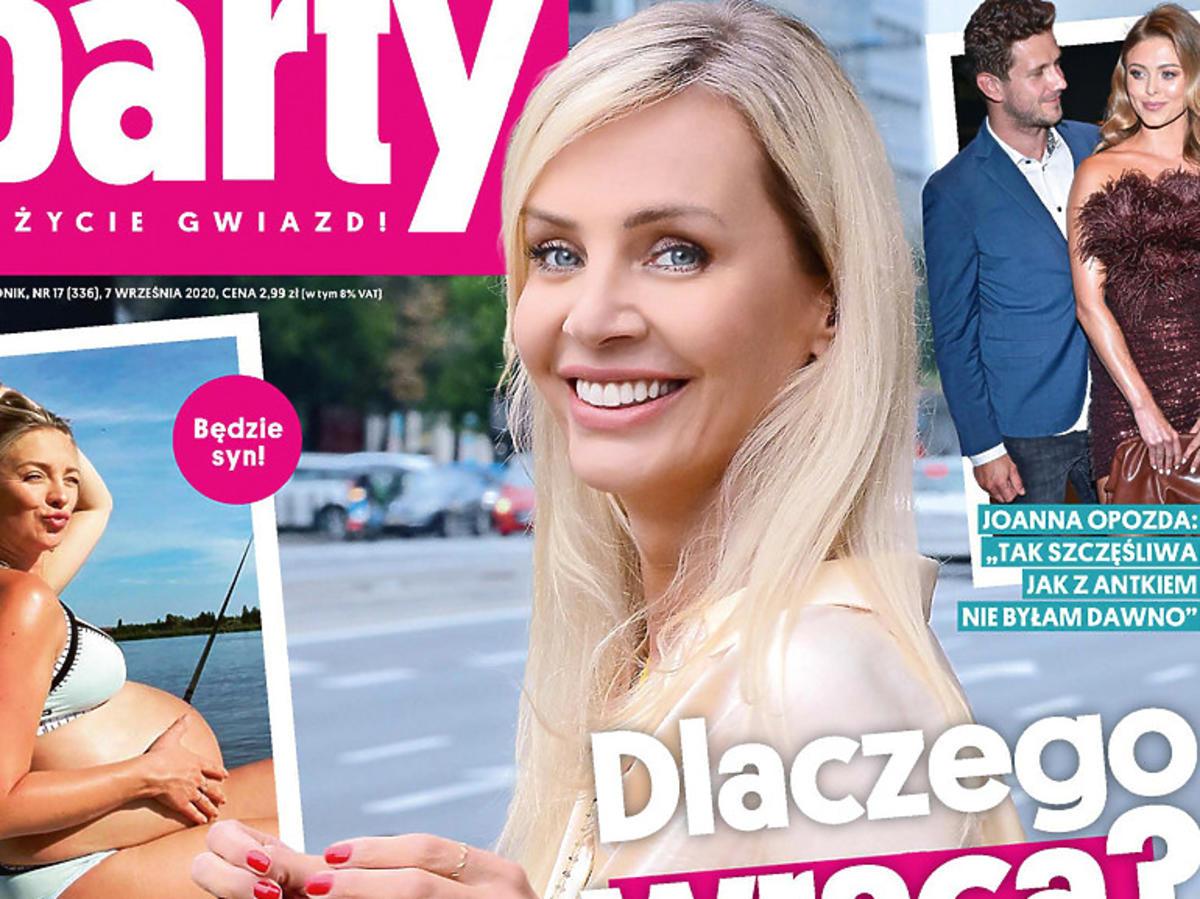 """Agnieszka Woźniak-Starak na okładce """"Party"""""""