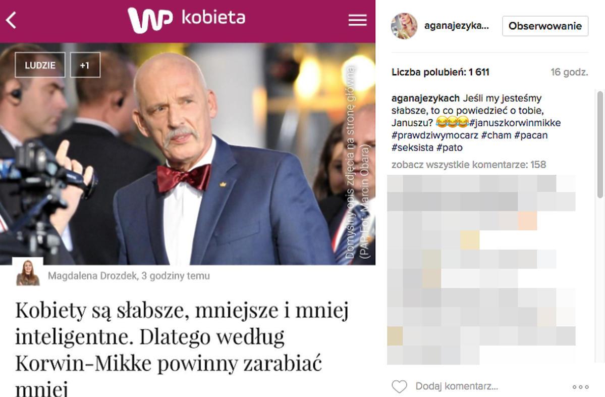 Agnieszka Woźniak-Starak skomentowała wypowiedź Janusza Korwin-Mikkego