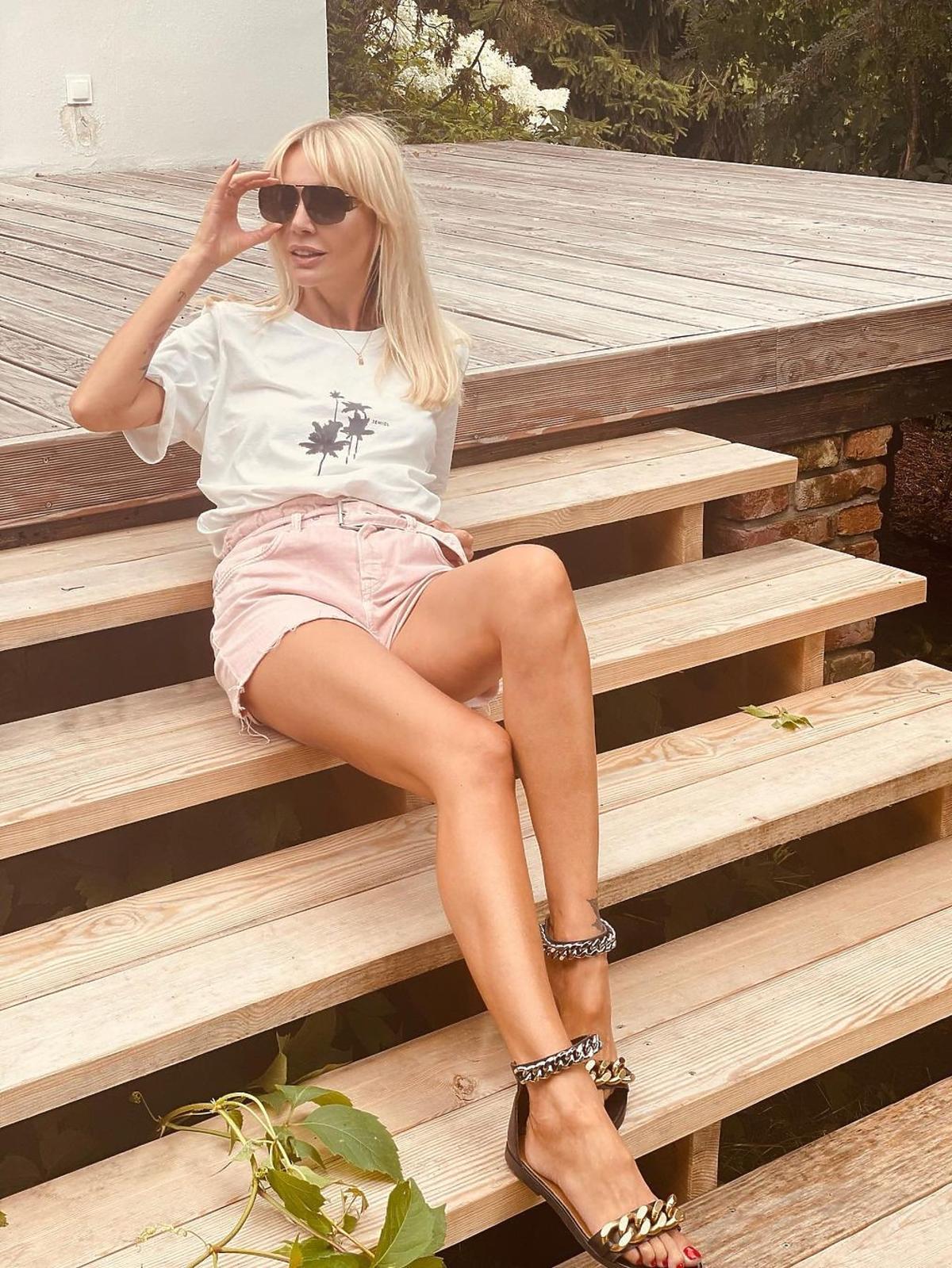 Agnieszka Woźniak Starak w modnych butach